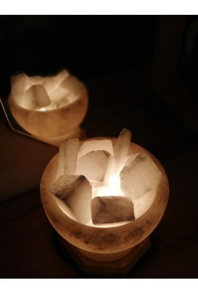 Çankırı Kaya Tuzu Doğal Tuz Lambası Tuz Kasesi