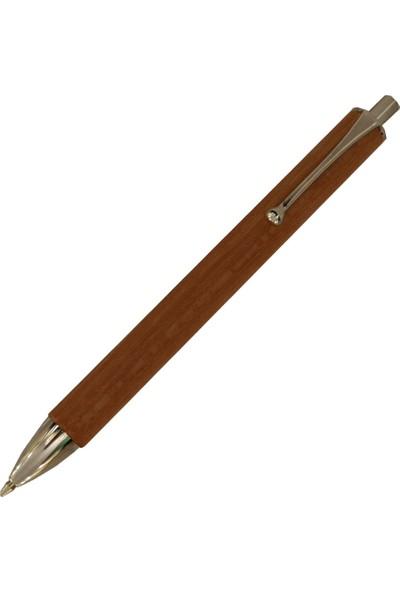 E+M 2104-52 Allwood Karaağaç Tükenmez Kalem