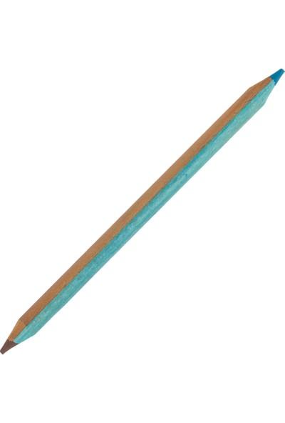 Legami K067870 Kurşun Kalem Jumbo Iki Renkli Mavi Kahverengi