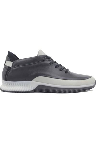 Pepita Deri Siyah Gri Günlük Erkek Spor Ayakkabı 4559
