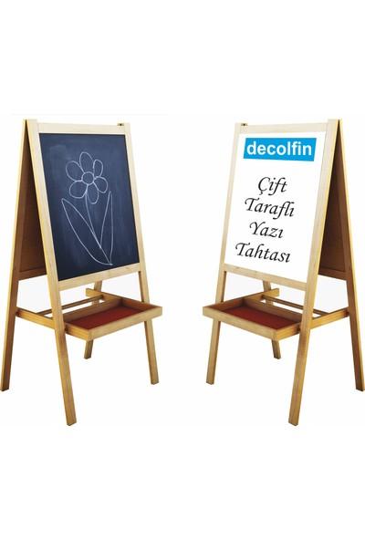 Decolfin Çift Taraflı Ayaklı Ahşap Yazı Tahtası Mala No:10