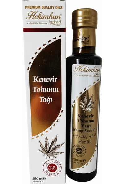 Hekimhan Bitkisel Kenevir Tohumu Yağı 250 ml