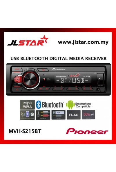 Pioneer MVH-S215BT Multimedya Tuner ile Bluetooth USB ve Android