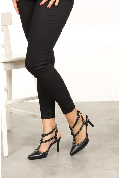 Mio Gusto Tina Siyah Topuklu Ayakkabı