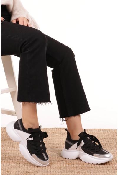 Mio Gusto Chris Hakiki Deri Siyah Sneaker