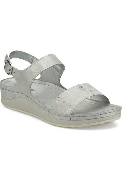 Travel Soft Trv1649.Z Gümüş Kadın Sandalet