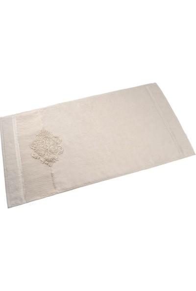 Ladya Kırık Beyaz Tüllü Gelin Havlusu 2'li Paket