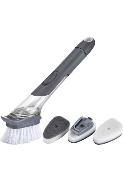 Wepools Deterjan Hazneli 3'lü Bulaşık Fırçası Temizlik Süngeri