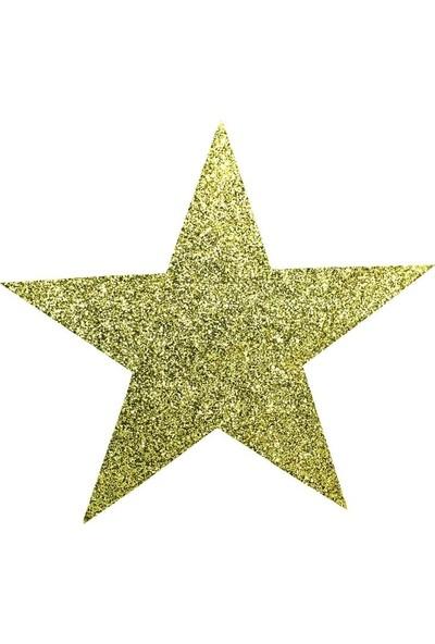 Süsle Bebek Parti Yıldız Süs 25 cm Altın