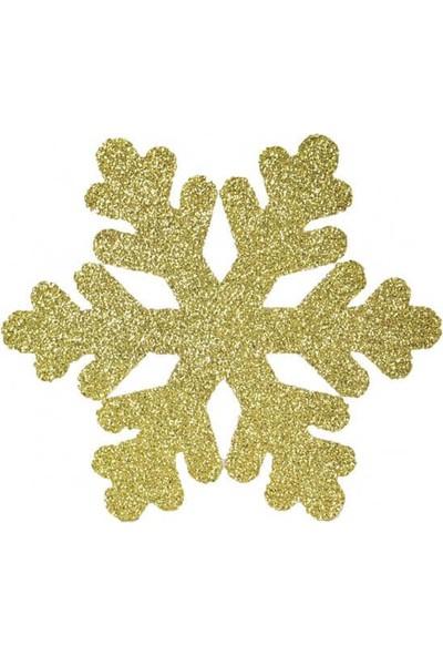 Süsle Bebek Parti Kar Tanesi Süs 25 cm Altın