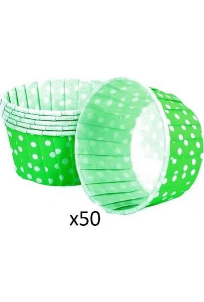 Hershey Yeşil Puantiyeli Kek Kapsülü 50'li