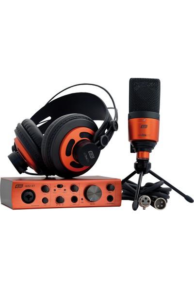 ESI Audio U22 XT cosMik Set Profesyonel Stüdyo Youtuber Kayıt Paketi