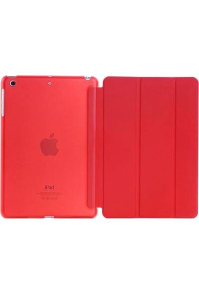 """Cepmarketim Apple iPad 10.2"""" 2019 7.Nesil A2197-A2198 Seri Darbe Emici Yumuşak Silikon Smart Kılıf -Kırmızı"""