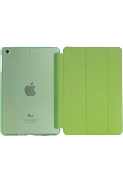 """Cepmarketim Apple iPad 10.2"""" 2019 7.Nesil A2197-A2198 Seri Darbe Emici Yumuşak Silikon Smart Kılıf-Yeşil"""
