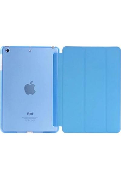 "Cepmarketim Apple iPad 10.2"" 2019 7.Nesil A2197-A2198 Seri Arka Sert P.C Smart Tablet Kılıf-Turkuaz"