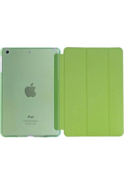 "Cepmarketim Apple iPad 10.2"" 2019 7.Nesil A2197-A2198 Seri Arka Sert P.C Smart Tablet Kılıf-Yeşil"