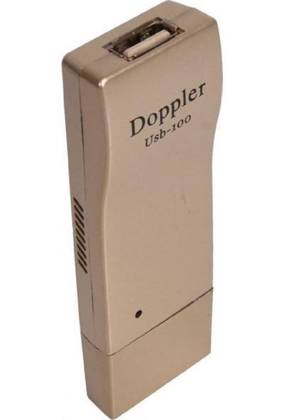 Doppler USB-100 Usb ile Çalışan Telsiz Kablosuz Mikrofon - Altın