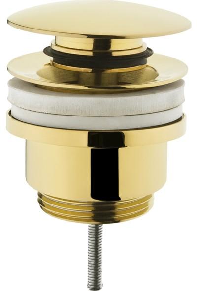 Artema A4514923 Basmalı Yuvarlak Lavabo Süzgeci Universal Altın