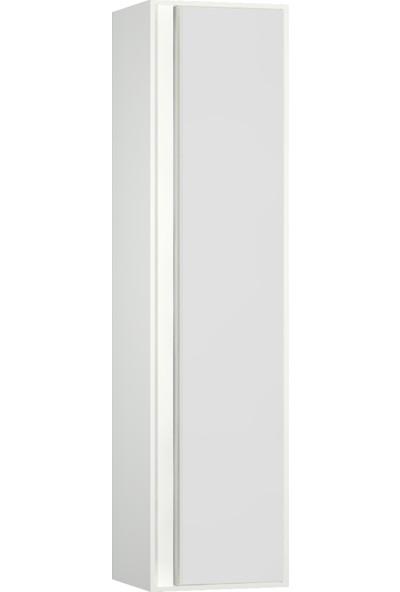VitrA Metropole 58205 Boy Dolabı 40 cm Sağ Parlak Beyaz - Beyaz Akrilik Cam
