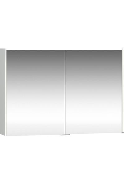 VitrA Metropole 58214 Aydınlatmalı Dolaplı Ayna 100 cm Parlak Beyaz