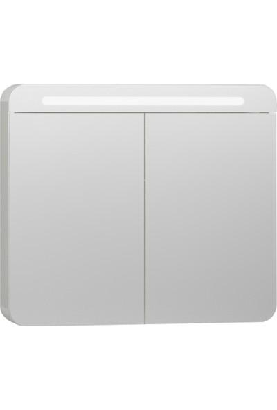 VitrA Nest Trendy 56423 Aydınlatma Dolaplı Ayna 80 cm Parlak Beyaz