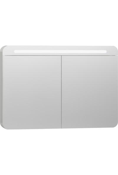 VitrA Nest Trendy 56424 Aydınlatmalı Dolaplı Ayna 100 cm Parlak Beyaz