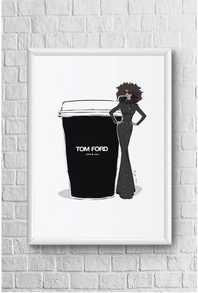 Lyn Home Tom Ford Siyah Çerçeveli Poster Tablo 23,5 x 33,5 cm