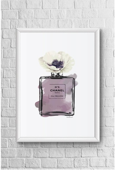 Lyn Home Mor Chanel Çerçeveli Poster Tablo 23,5 x 33,5 cm