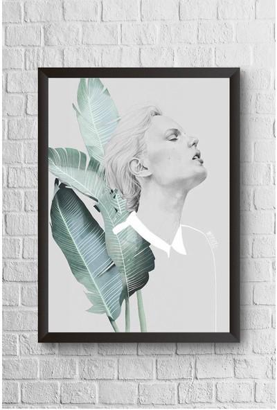 Lyn Home Yarım Silüet Çerçeveli Poster Tablo 23,5 x 33,5 cm