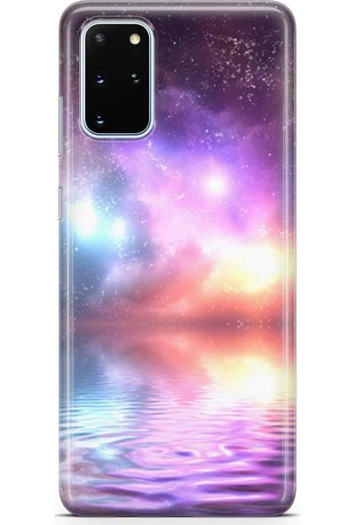 Lopard Samsung Galaxy S20 Plus Kılıf Silikon Arka Kapak Koruyucu Deniz ve Kuzey Işıkları Desenli