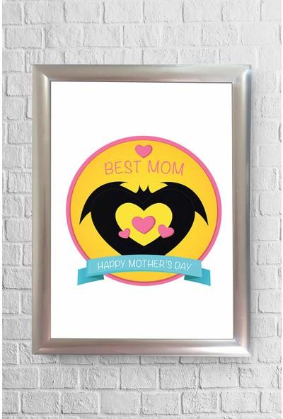 Lyn Home Best Mom Çerçeveli Poster Tablo 23,5 x 33,5 cm