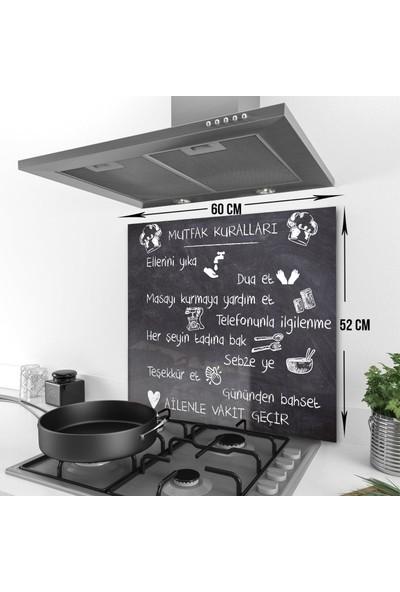 Decori̇ta Kara Tahta Görünümlü Mutfak Kuralları | Cam Ocak Arkası Koruyucu
