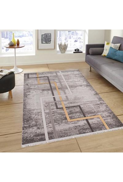 Halı Home Halı Trend 2801 Gri En 76 cm Yolluk Halı 78 x 100 cm