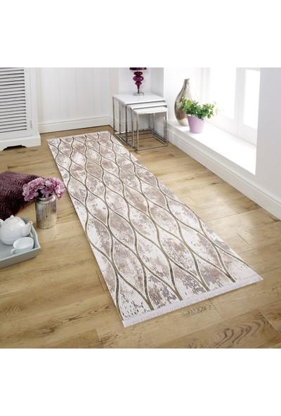 Halı Home Halı Soft 782 Gri En 80 cm Yolluk Halı 80 x 100 cm