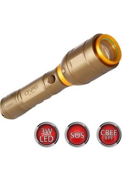 Hiper Onas NS-609 3WATT Led'li Şarjlı El Feneri