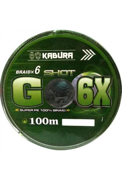 Kabura G-6x Super Pe Braid 6 Örgü 0,35 mm 100MT.