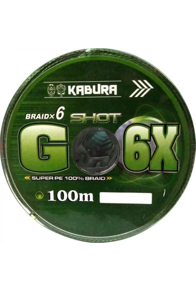 Kabura G-6x Super Pe Braid 6 Örgü 0,30 mm 100MT.