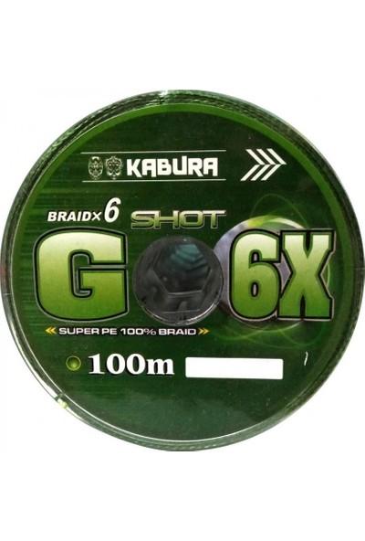 Kabura G-6x Super Pe Braid 6 Örgü 0,22 mm 100MT.