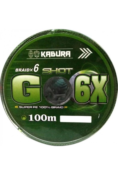 Kabura G-6x Super Pe Braid 6 Örgü 0,20 mm 100MT.