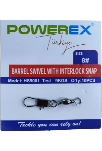 Powerex HS9001 No: 8 Klipsli Fırdöndü 10'lu Paket