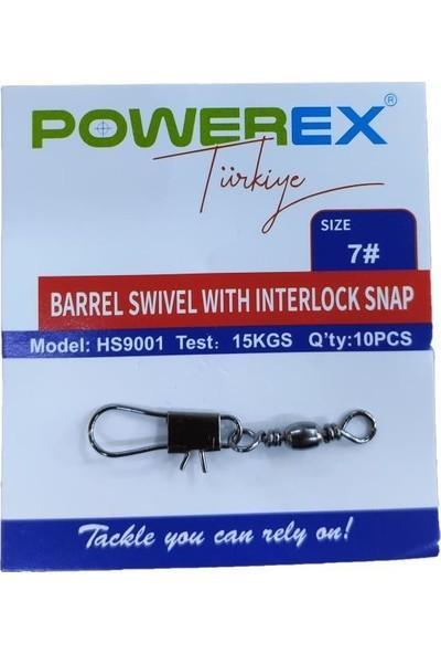 Powerex HS9001 No: 7 Klipsli Fırdöndü 10'lu Paket