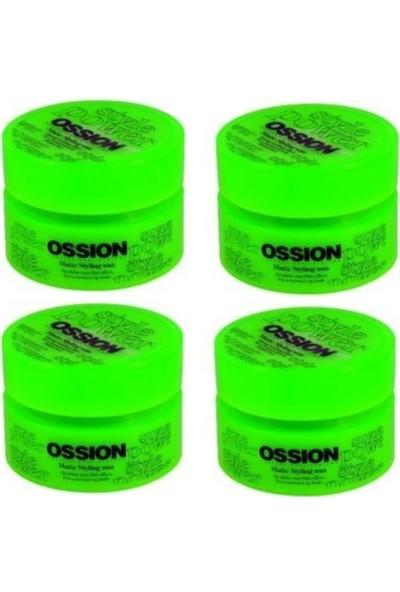 Ossion Matte Styling Mat Wax 100 ml 4 Adet