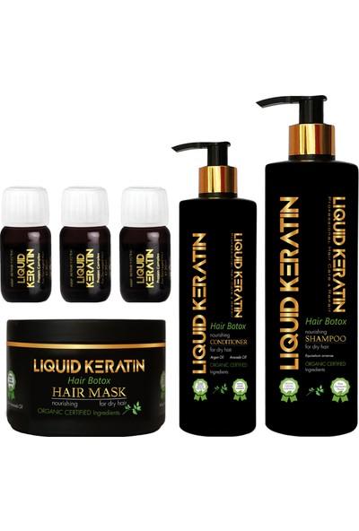 Liquid Keratin Yıpranan Saçlara Keratin Bakım - Onarıcı Full Set