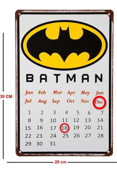 Carma Concept Batman Metal Takvim Magnet Işaretcikler