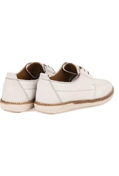 Ziya Erkek Deri Ayakkabı 101415 506064 Beyaz