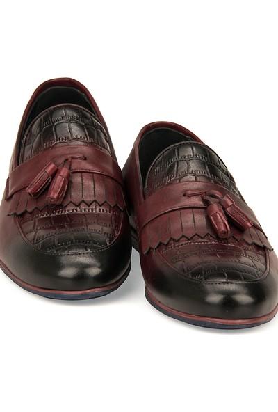 Ziya Erkek Deri Ayakkabı 101415 647481 Bordo