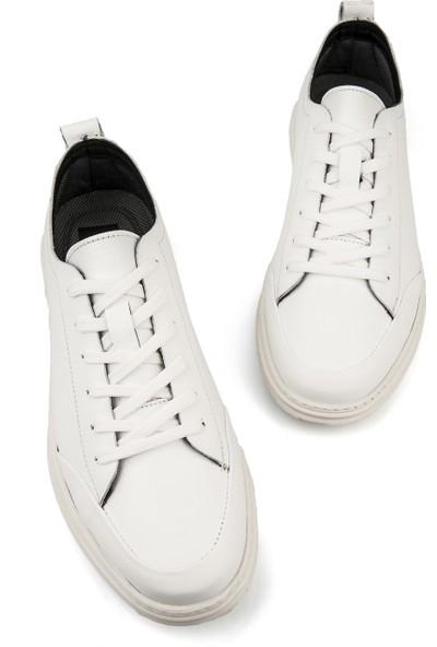Ziya Erkek Deri Ayakkabı 101415 668256 Beyaz