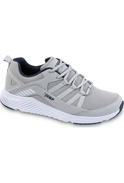 Jump 24865 Büyük Numara Gri Beyaz Erkek Spor Sneaker Ayakkabı