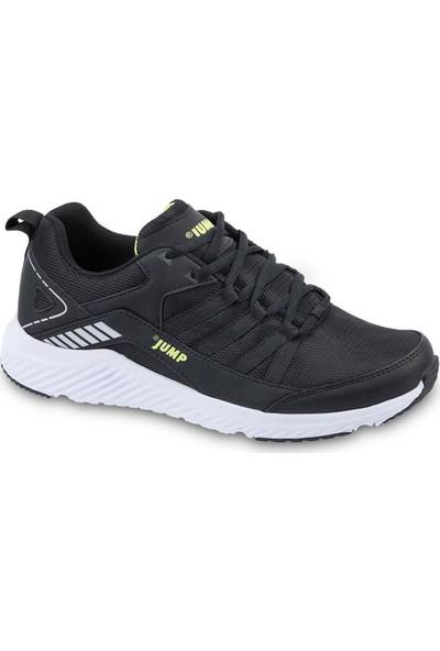 Jump 24865 Siyah - Neon Yeşil Kadın Spor Ayakkabı