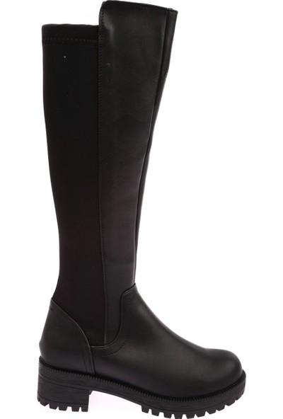 Dgn 601 Kadın Arkası Stretch Knee High Çizme